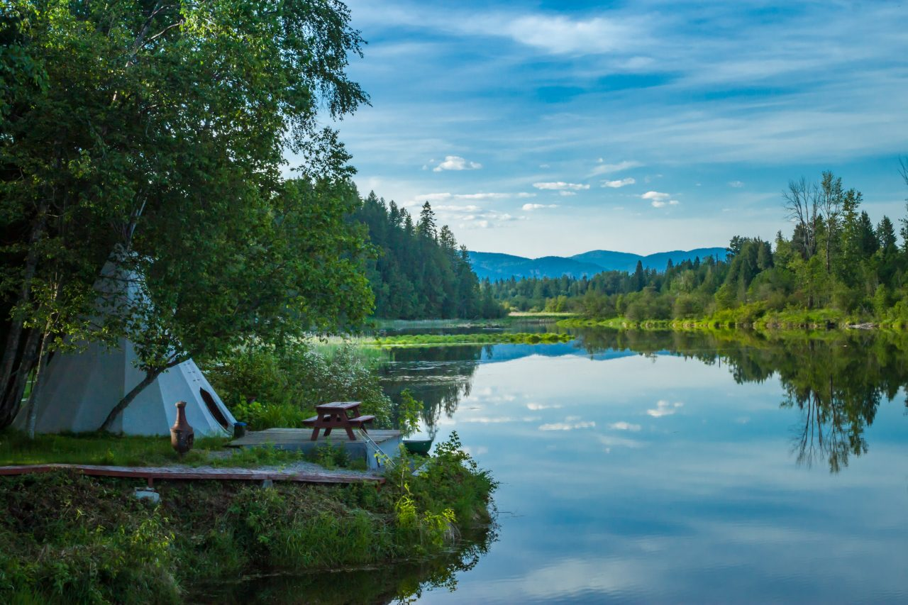 sustainable travel tips - River